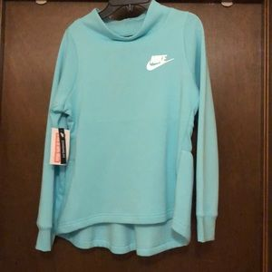NWT Nike girls sweat shirt. Mint green in color.